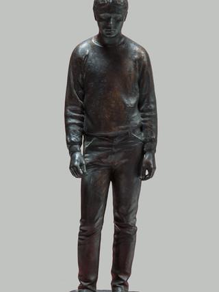 "FRANCISCO LÓPEZ HERNÁNDEZ (Madrid, 1932) ""Francisco"" (1988). Bronce, 48 cm. (altura)"