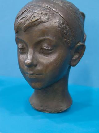 """Antonio Campillo Párraga (Murcia, 1926 – 2009) """"Celina"""". 1964. Bronce. Altura 29 cms."""