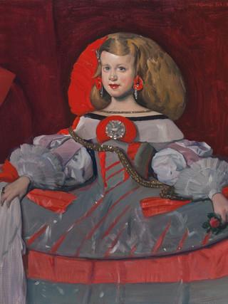 La infanta Margarita en plata y rojo. 2019