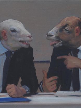 Dos sofistas debatiendo