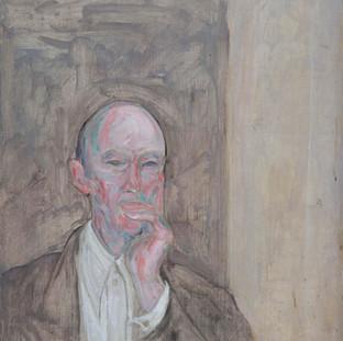 """Retrato de JJT"" 1975. Óleo sobre lienzo 81X65 cms."