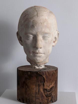 """Francisco López Hernández (Madrid, 1932 - 2017) """"Pilar Hernández"""". 1972. Escayola. Altura 36 cms."""