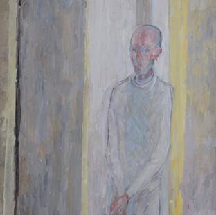 """""""Hombre en su laberinto"""" 1991. Óleo sobre lienzo 130x97 cms."""