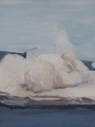 "IGNACIO ESTUDILLO PÉREZ (Jerez de la Frontera, 1985)""Escultura. Estudio"" (2012) Óleo sobre tabla, 42x46 cms."