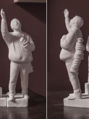 Rosquero y Carretillero (modelo para un monumento)