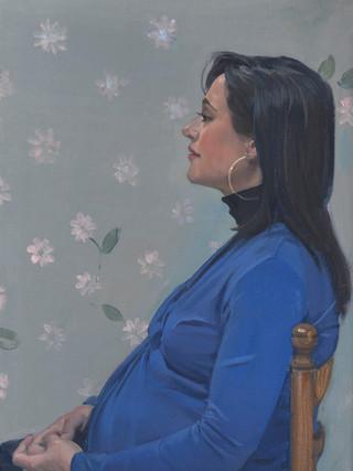 Rita embarazada.