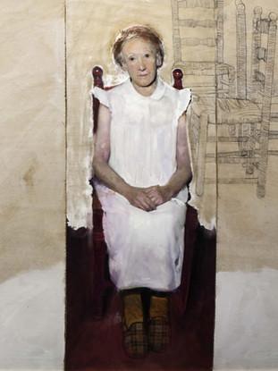 "Golucho (Madrid, 1949) ""Inacabado"". 2003. Óleo y lápiz sobre tabla. 128x139 cms."