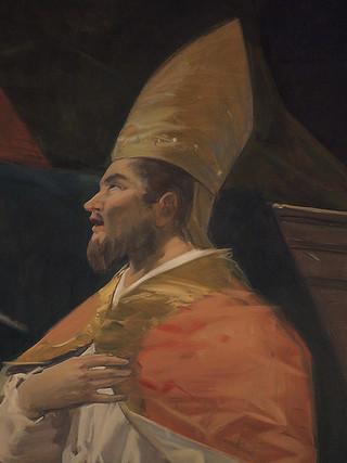 San Esteban Papa en la Gloria (detalle)