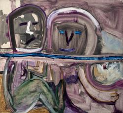 GADEA_-_Con_el_agua_al_cuello_(1990)_óleo_sobre_lienzo