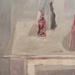 """""""Botellas de Coca-cola"""" 1995. Óleo sobre lienzo 82x66 cms."""