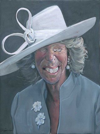 Señora con sombrero blanco I