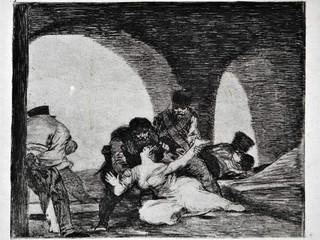 """""""Amarga pesencia"""". Grabado 13 de la serie Los desastres de la guerra 810 - 1815. Primera edición (1863) Aguafuerte.Huella 15x20 cm"""