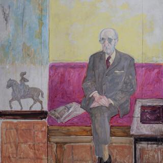"""Retrato de Cristino Mayo"" 1986. Óleo sobre lienzo 130x97 cms."