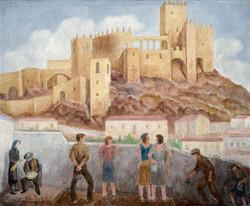 RUEDA Castillo de velez-blanco circa 1988 oleo-lienzo