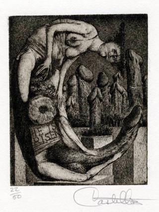 """""""Alfabeto Erótico. Letra C"""" 1969-1971. Aguafuerte y aguatinta 11 x 9 cm (huella)"""