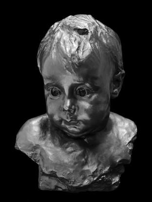 """MARIANO BENLLIURE GIL (Valencia, 1862 – Madrid, 1947) """"Retrato de Peppino Benlliure"""" Bronce. 28x20x18 cms."""