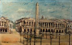 ALCARAZ Plaza de la Concordia circa 1968 oleo-lienzo