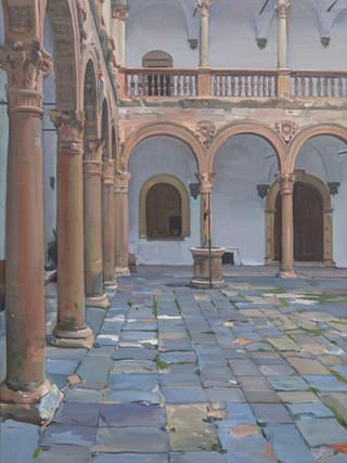 Patio del castillo, La Calahorra