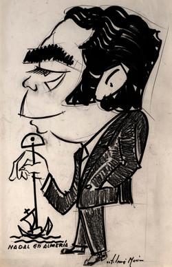 BARTOLOME MARIN Caricatura Asenjo