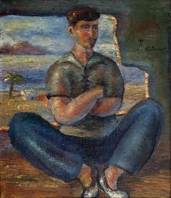 ALCARAZ Un marinero 1947 oleo-lienzo
