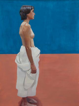 "IGNACIO MARTÍNEZ VERGARA (Albacete, 1990) ""Desnudo"" (2019) Óleo sobre lienzo, 130x97 cm."