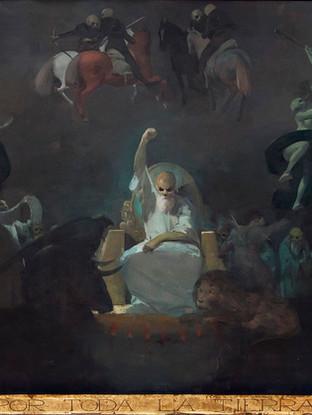 Tríptico del Miedo y la Superstición I. Escena inicial junto al trono