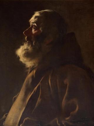 "LUIS GRANER (Barcelona, 1863 – 1929) ""Franciscano"" (hacia 1890). Óleo sobre tela, 47x38 cms."