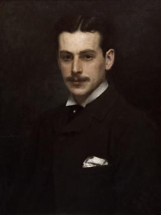 """RICARDO DE MADRAZO Y GARRETA (Madrid, 1851 – 1917) """"Miembro de la familia Stuyck"""" (hacia 1865). Óleo sobre tela, 69x58 cms."""