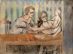 CASTELLON Mi familia circa 1948 mixta-papel