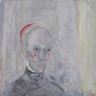 "Monseñor"" 1989. Óleo sobre lienzo 50x50 cms."