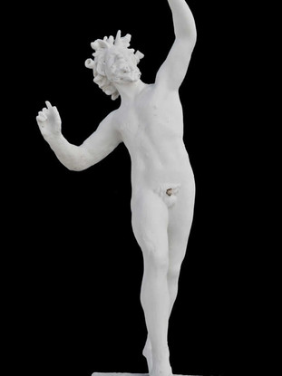 """ANÓNIMO POMPEYANO """"Fauno"""". Altura 73 cms. Réplica en escayola realizada con molde del original por la Real Academia de Bellas Artes de San Fernando."""