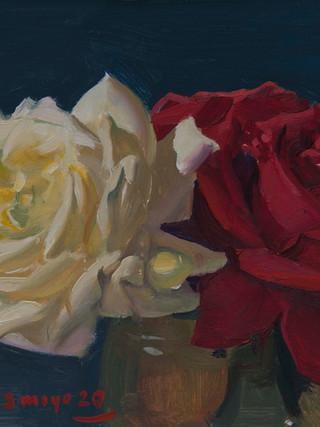 Dos rosas.