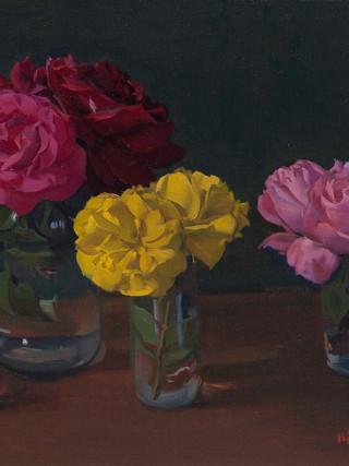 Bodegón de las rosas.