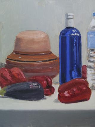 "LUIS PALTRÉ JIMÉNEZ (Cabra, 1958) ""Bodegón"". 2014. Óleo sobre tabla. 44x60 cms."