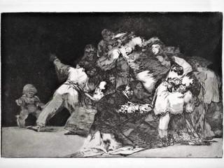 """""""Disparate desordenado"""". Serie Los Disparates. 1815 - 1823. Primera edición (1864) Aguafuerte. y aguatinta. Huella 21x32 cms."""