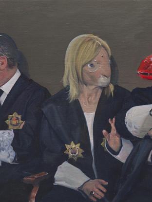 Cuatro sofistas deliberando