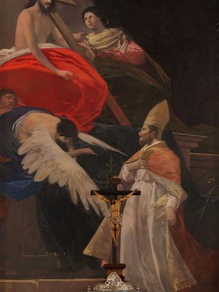 San Esteban Papa en la Gloria