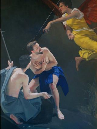 Bautismo de Jesús en las aguas del río Jordán