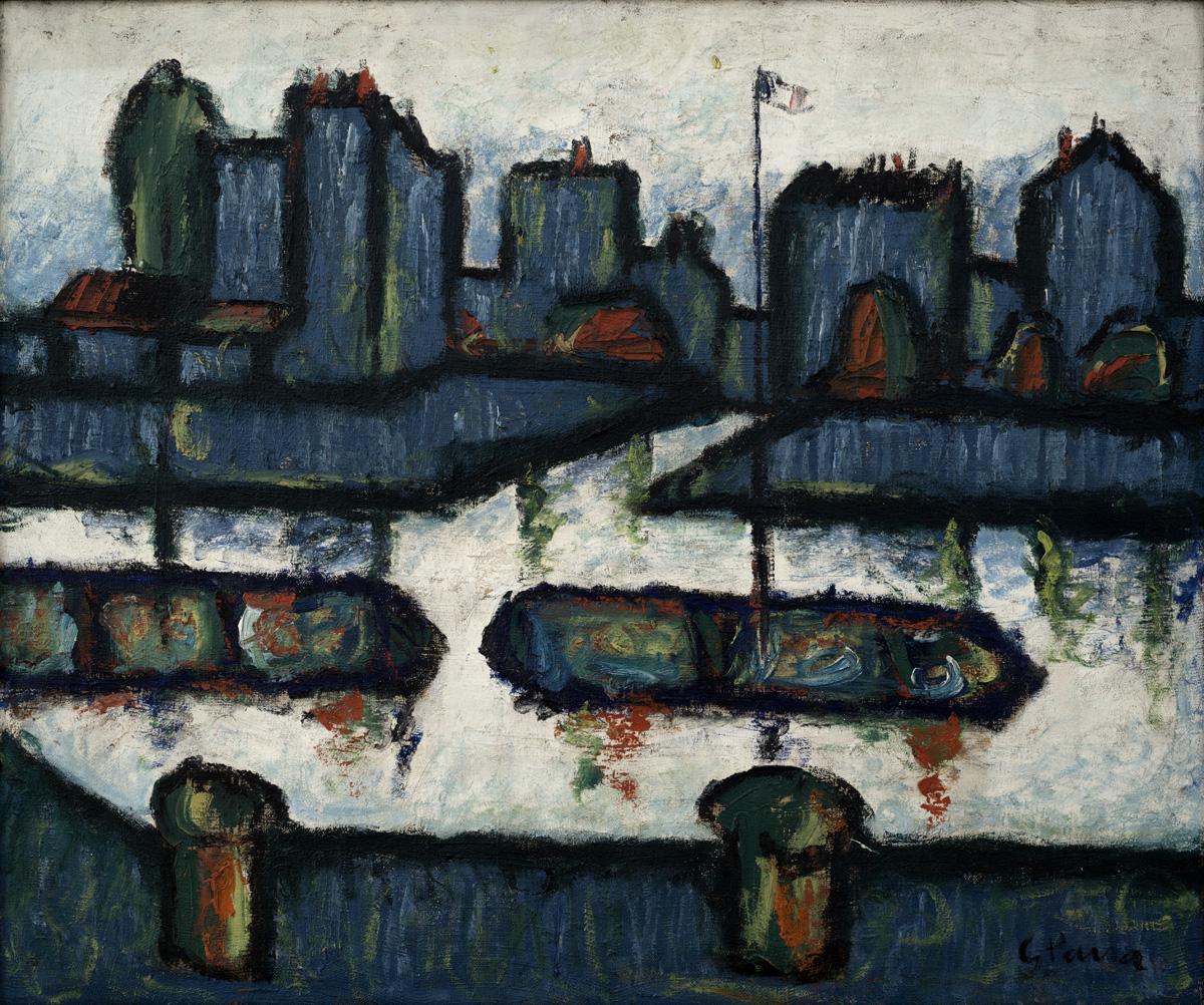 PARRA Paysage de la seine 1935 oleo-lienzo