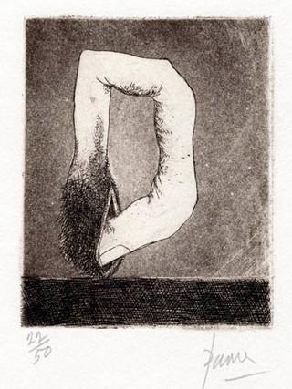 "PETER PAONE (1936) Serie realizada junto a Castellón ""Alfabeto Erótico. Letra D"" 1969-1971. Aguafuerte y aguatinta 11 x 9 cm (huella)"