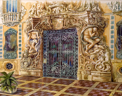DIONISIO_GODOY__Palacio_del_marqués_de_Dos_Aguas_(2008)_Acuarela_sobre_papel
