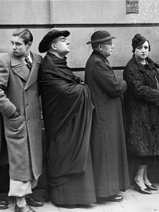 Cola de votantes. 1936