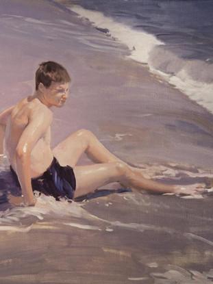 Niño en la orilla, Garrucha