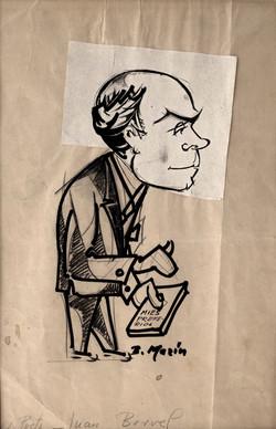 BARTOLOME MARIN Caricatura Berbel