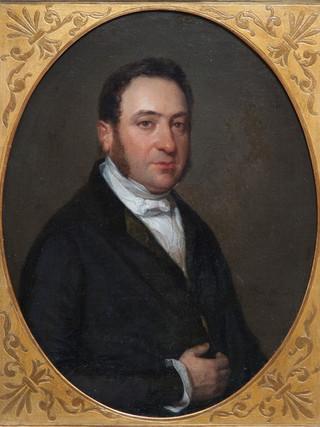 """FEDERICO DE MADRAZO Y KÜNTZ (Roma, 1815 – Madrid, 1894) """"Don Jose María Moscoso de Altamira, Primer conde de Fontao"""" (1842). Óleo sobre tela, 40x33 cms."""