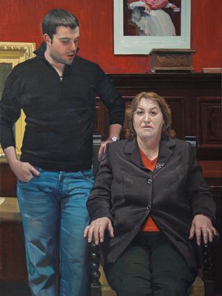 Ramón Sáez y su madre
