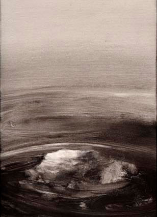 """Toña Gómez (Málaga, 1954) """"Agua"""". 2002. Acrílico sobre lienzo. 130x35 cms."""