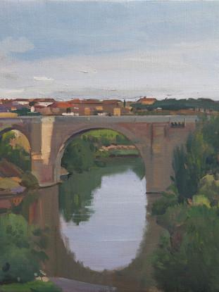 Puente de Alcántara al amanecer, Toledo