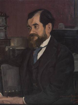 """IGNACIO ZULOAGA Y ZABALETA (Éibar, 1770 - Madrid, 1945). """"Retrato de caballero"""". 1894. Óleo sobre lienzo. 70x64 cms."""