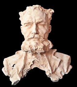 ROBERTO MANZANO Busto de Antonio Cano Cervantes (1999). Escayola